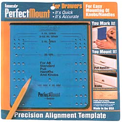 Laurey 98101 Perfect Mount Knob Amp Pull Template For