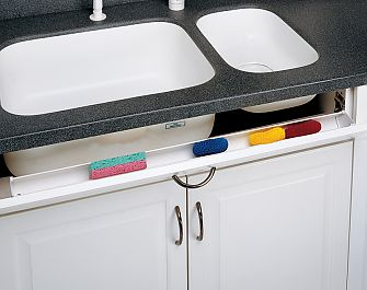 rev a shelf 36 914mm slim series sink front tip out tray set tray 2 pair hinges and end caps white