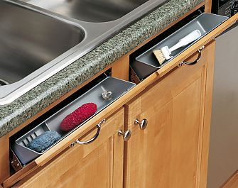 rev a shelf 6572 11 17 52 11 279mm sink front tip out tray system w self holdin hinges set silver the hardware hut