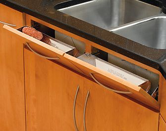 rev a shelf 19 483mm stainless steel sink front tip out tray each stainless steel