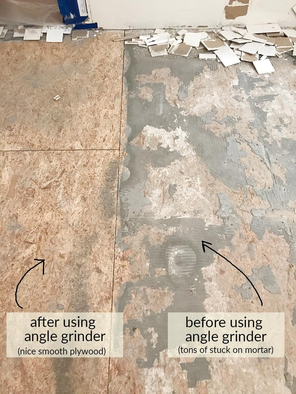 how to remove tile floors the harper