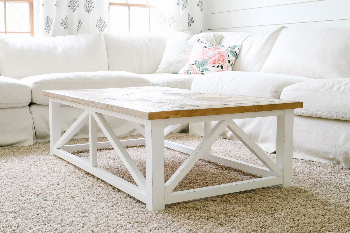farmhouse coffee table from amazon