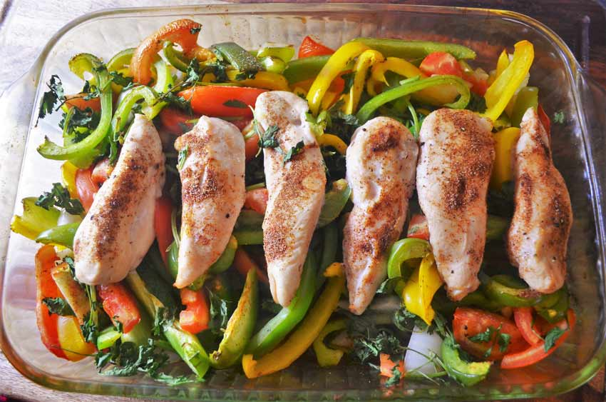 baked chicken fajitas paleo whole 30