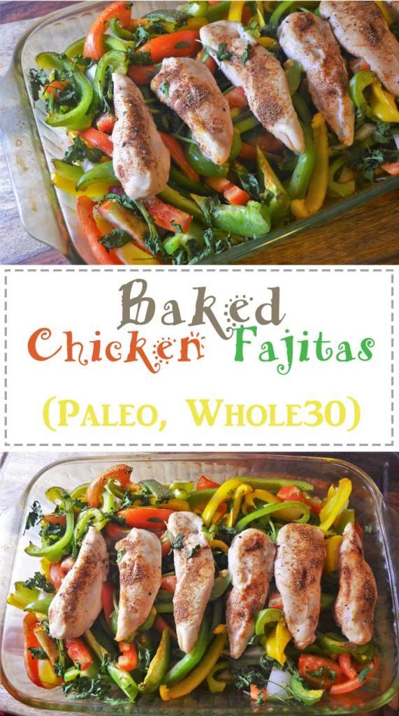 baked chicken fajitas paleo whole 30
