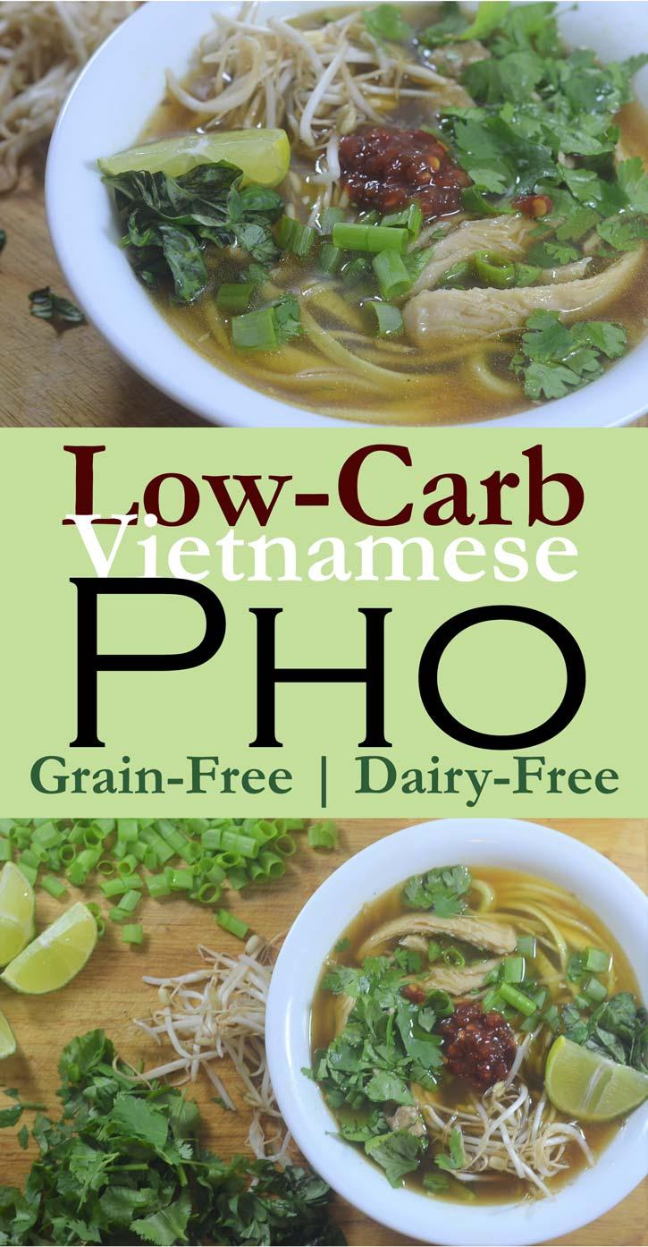 low carb vietnamese chicken pho gluten free grain free dairy free