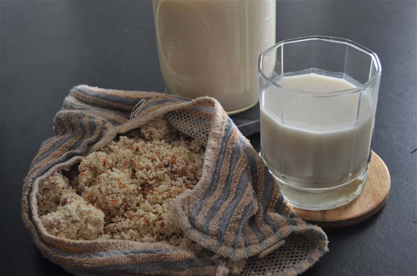 homemade nut almond milk
