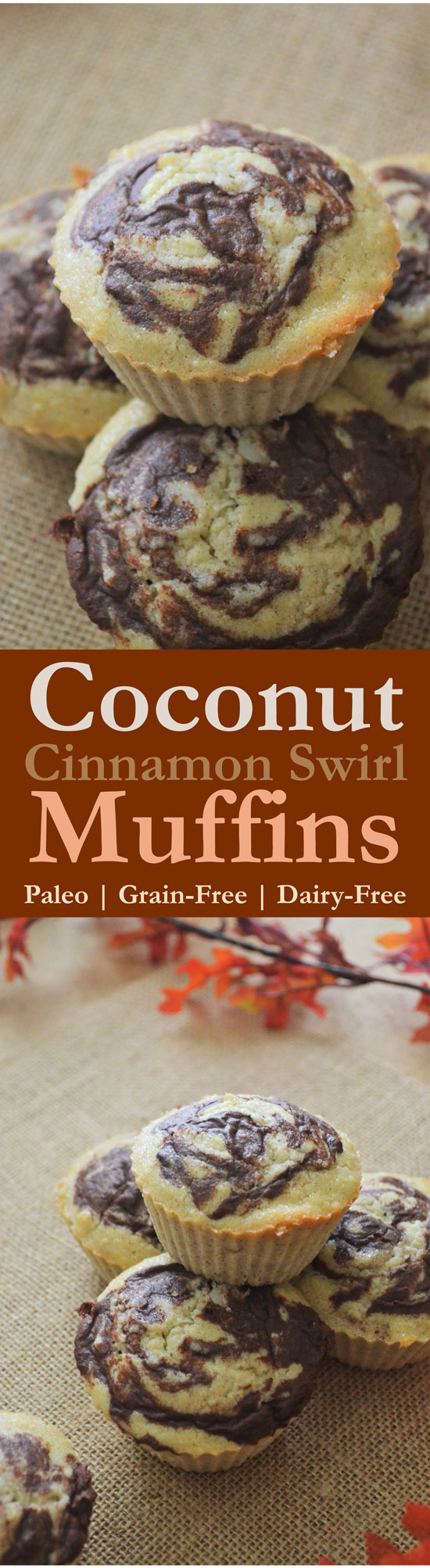 coconut cinnamon swirl muffins gluten-free grain-free low-carb dairy free paleo