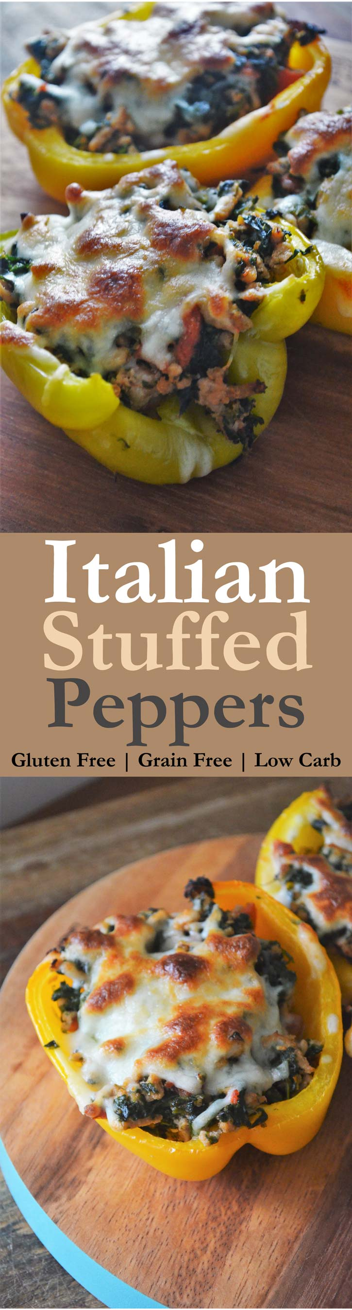 italian stuffed peppers homemade gluten free grain free low carb ground turkey