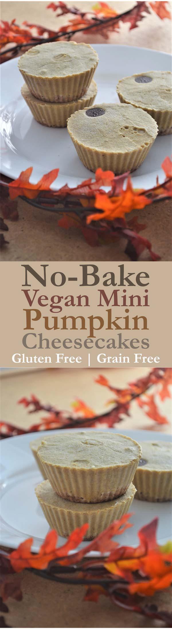 pumpkin mini cheesecake vegan gluten-free grain-free
