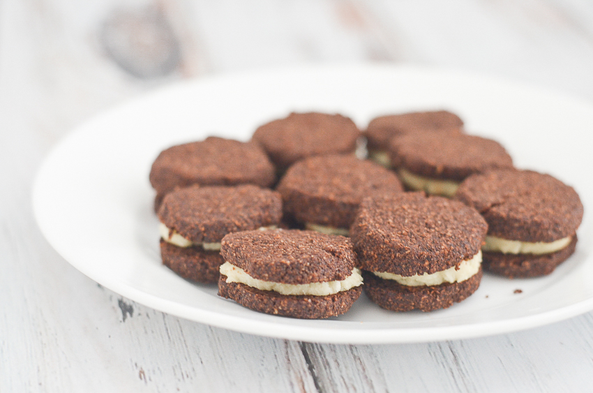 A delicious gluten-free oreo made with chocolate shortbread cookies and a sweet buttercream filling. Surprisingly simple and quick to make! Keto, low-carb, gluten-free, grain-free, bulletproof.