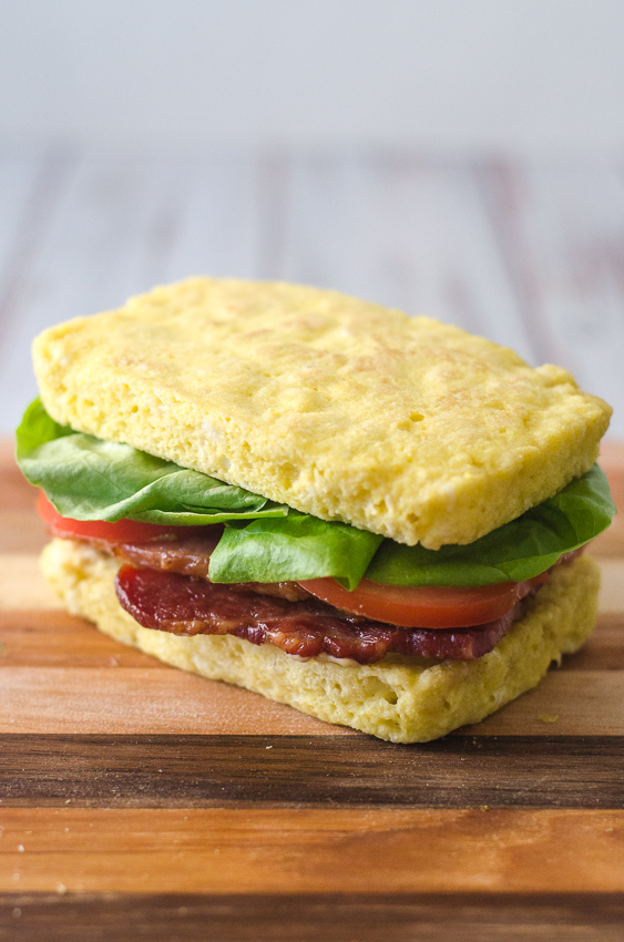 Who wouldn't love an occasional sandwich while following a low-carb way of eating? Well this keto BLT sandwich is just the thing for when those cravings strike. Made with microwave sandwich bread, this BLT sandwich takes just minutes to assemble. Gluten-free, grain-free, ketogenic, Paleo, low-carb.