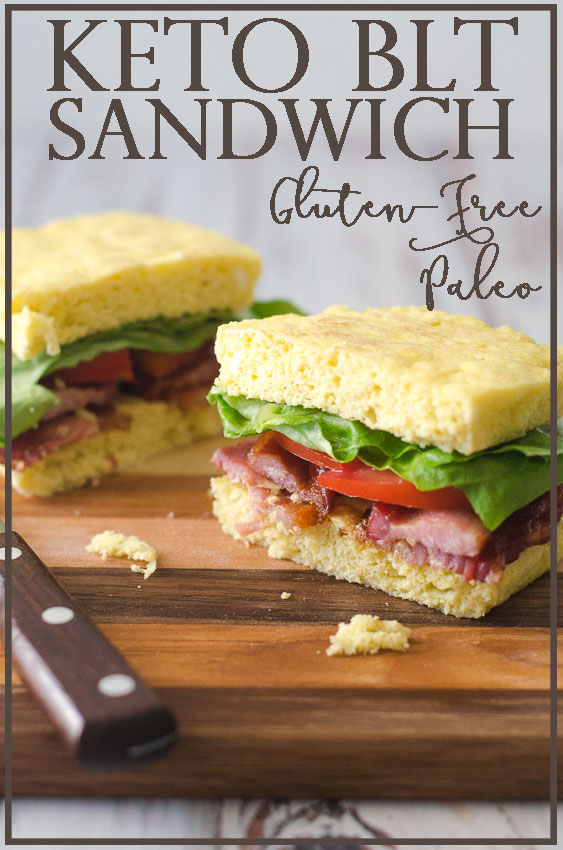 Who wouldn't love an occasional sandwich while following a low-carb way of eating? Well this keto BLT sandwich is just the thing for when those cravings strike. Made with microwave sandwich bread, this BLT sandwich takes just minutes to assemble and is just 6 net carbs per sandwich. Gluten-free, grain-free, ketogenic, Paleo, low-carb.