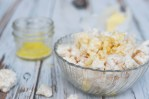 For those who are sensitive to, or are trying to avoid corn, you don't have to miss out on everyone's favorite movie theater snack! Made with rice cakes, this corn-free popcorn is just as crunchy, buttery and salty as the corn-based counterpart. Gluten-free, dairy-free, easily made vegan.