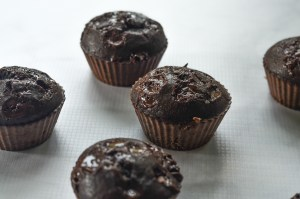 Incredibly chocolately, these double chocolate chip muffins are a sweet and decadent breakfast, dessert or snack! Gluten-free, grain-free, ketogenic, low-carb, Paleo, dairy-free.