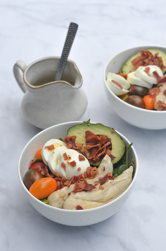 Cobb Salad with Honey Mustard Vinaigrette (Keto, Paleo, Whole30)
