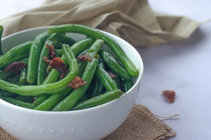 If you're looking for a delicious side dish for any meal ranging from a casual BBQ to a fancy Thanksgiving dinner, then these bacon green beans are perfect! Keto, Paleo, Whole30, gluten-free, grain-free, dairy-free.