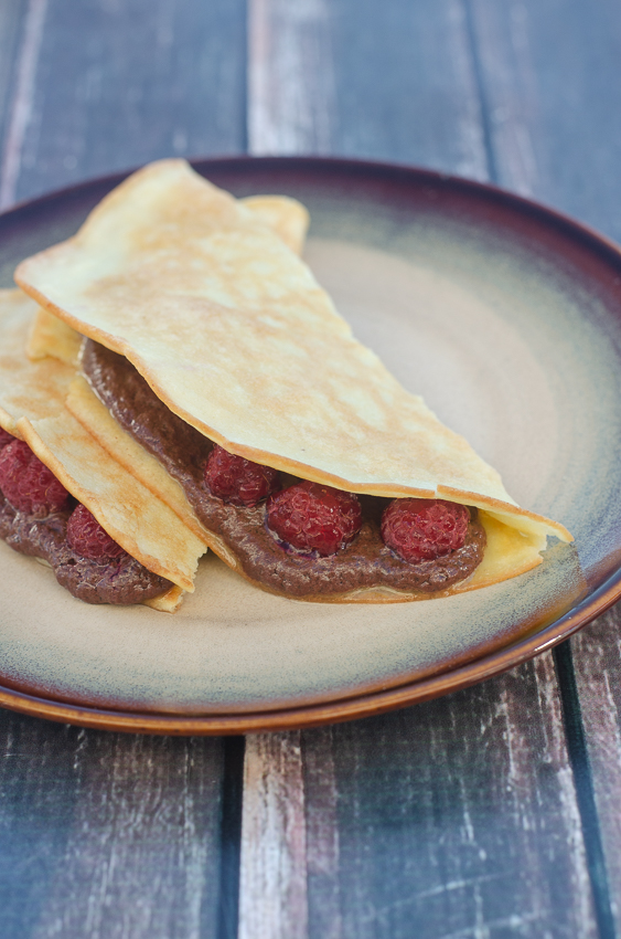 If you're in need of a delicious crepe recipe that works for breakfast, dessert and everything in between, then these chocolate almond butter raspberry crepes are perfect! Paleo, dairy-free, low-carb.
