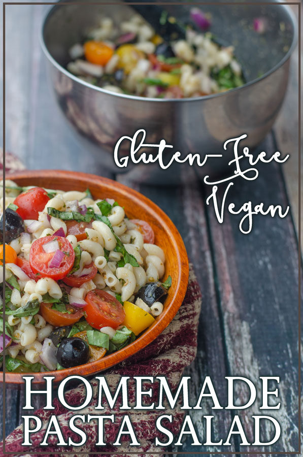 An incredibly simple recipe, this gluten-free pasta salad will fool even the most gluten-loving of people. Not only that, it's also vegan, vegetarian and dairy-free.