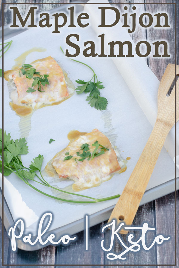 This maple dijon salmon is incredibly flavorful, sweet and tangy. Perfect for any meal, your family will love it! Keto, Paleo, Dairy-free.