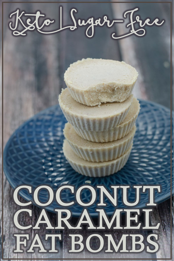 A tasty treat for when you are craving something sweet, these coconut caramel fat bombs are delicious! Keto, low-carb, sugar-free.
