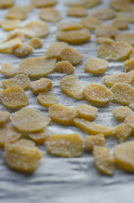 This homemade candied ginger is incredibly sweet and spicy, it's SO GOOD! It's also sugar-free, keto, low-carb, paleo, and vegan.