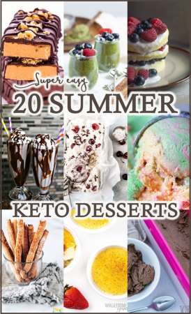 Summer is here, which means no time to waste in the kitchen. These 20 easy summer keto desserts will be ready in no time at all, so you can spend all day in the sun!