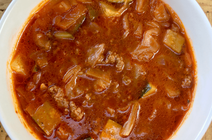 Low-Carb Cabbage Soup Recipe