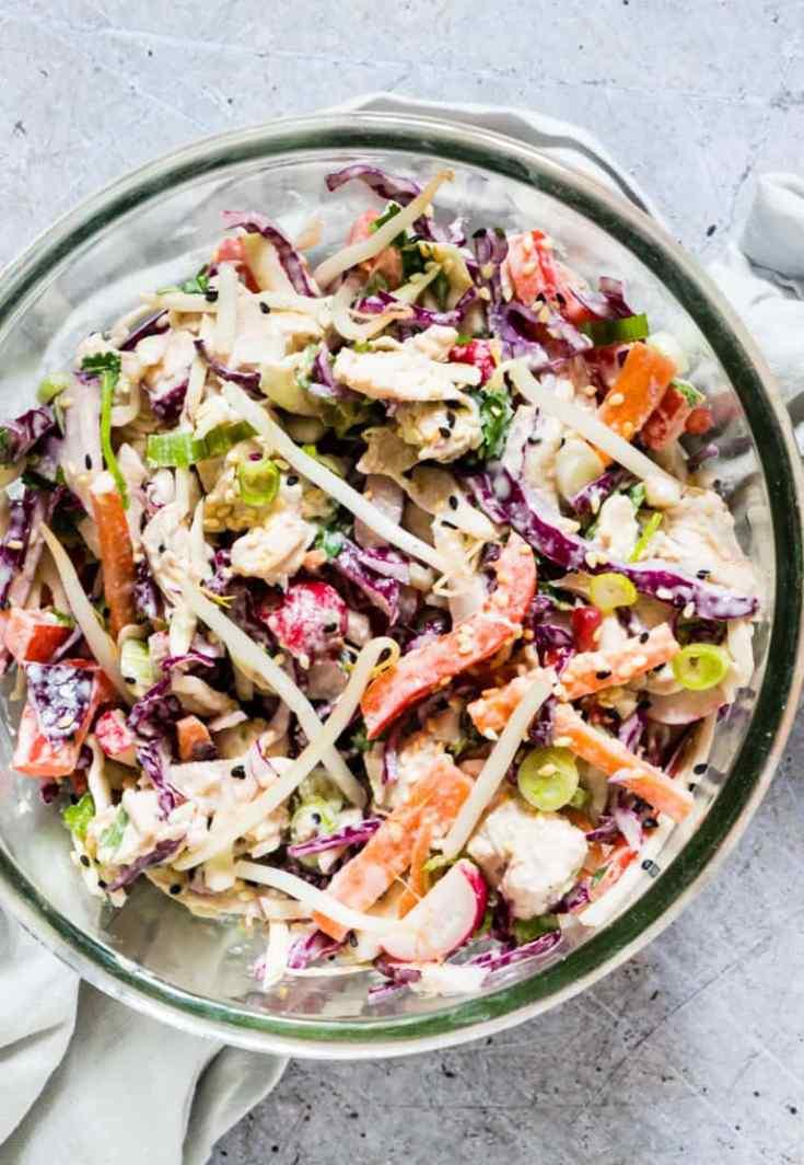 Crunchy Healthy Turkey Salad Recipe {Meal Prep, Gluten-Free, Low Carb, Keto}