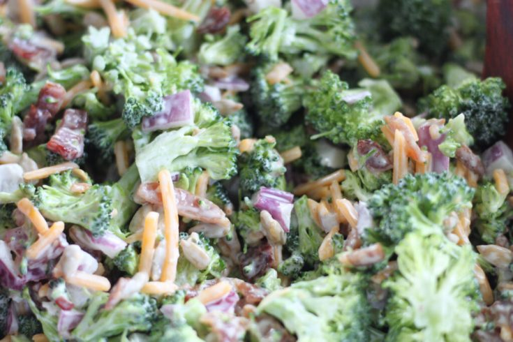 Keto Broccoli Salad With Bacon- The Best Cold Broccoli Salad Recipe