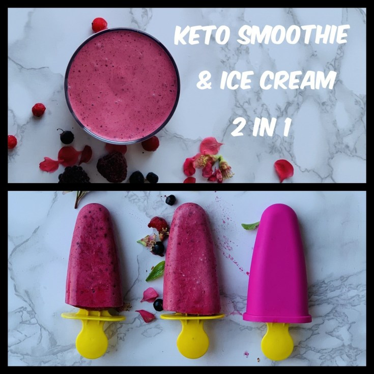 Perfect Keto Smoothie & Keto Popsicles with Mixed Berries 2 in 1