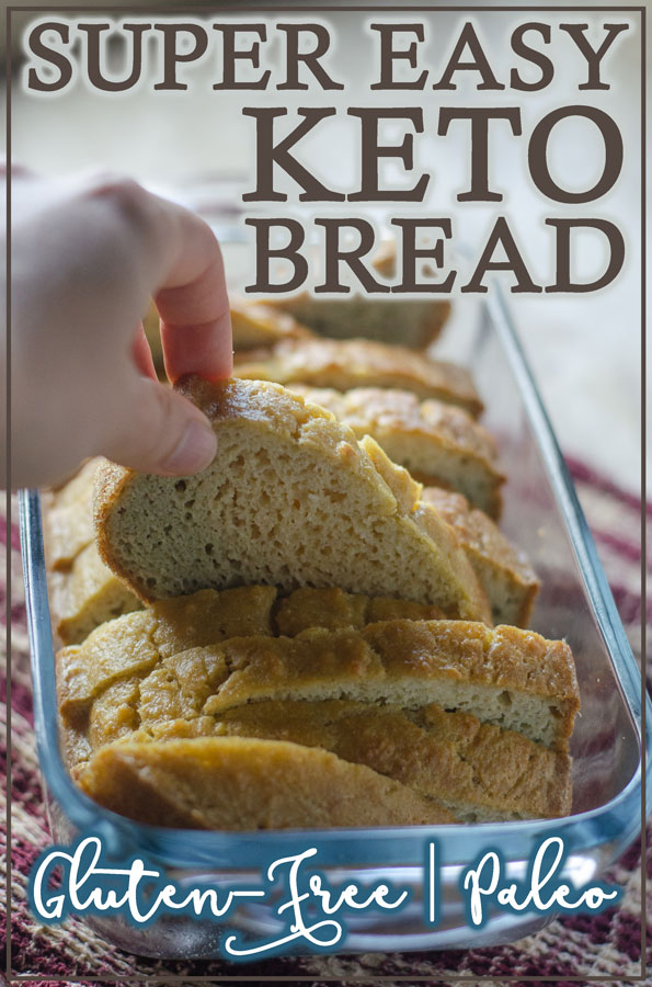 Looking for a go-to low-carb bread recipe? This super easy keto bread will be your new favorite! It's delicious and perfect for pretty much any use from sandwiches to French toast! Keto, low-carb, Paleo, gluten-free, grain-free, dairy-free.
