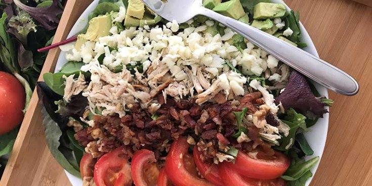 Keto Salad (High Fat, Low Carb Cobb Salad)