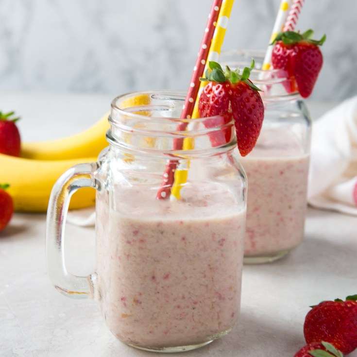 The Best Healthy Strawberry Banana Smoothie Recipe