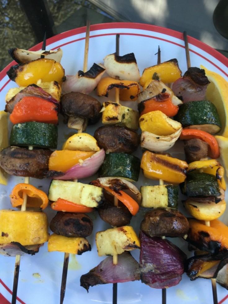 Mediterranean Grilled Veggie Kabobs - Debra Klein | Health & Wellness Coach