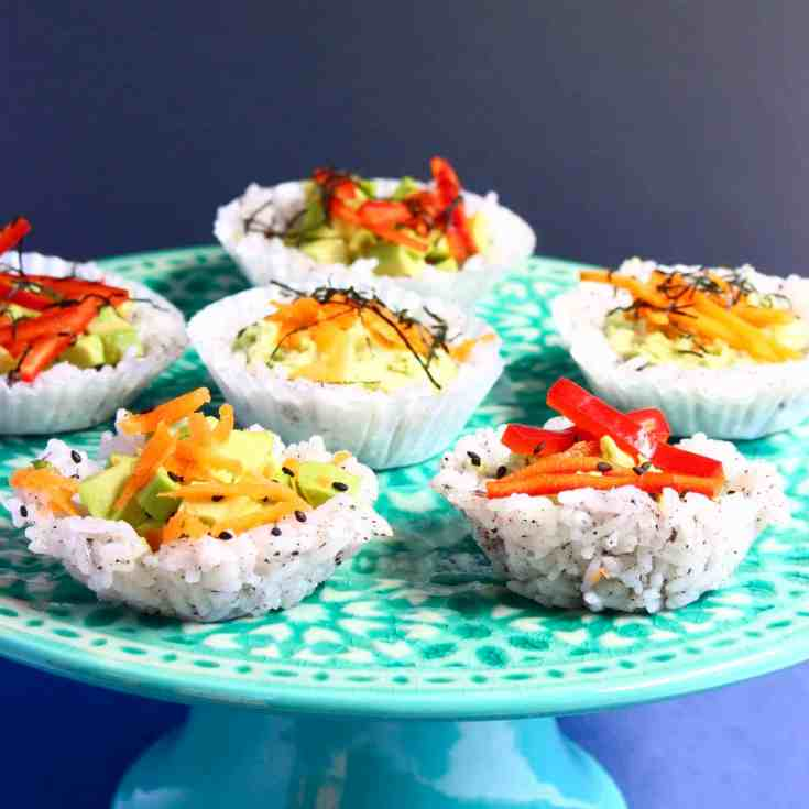 Muffin Tin Sushi Cups (Vegan + GF)