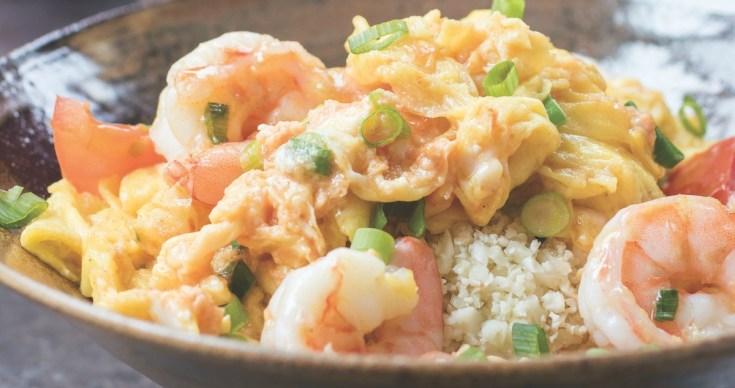 Silky Egg Stir Fry with Jumbo Shrimp