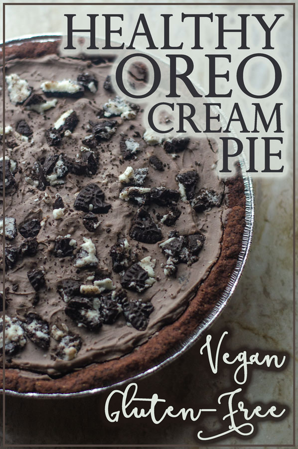 Looking for a special holiday dessert, but want to stick to your diet? This healthy oreo cream pie is gluten-free and vegan!