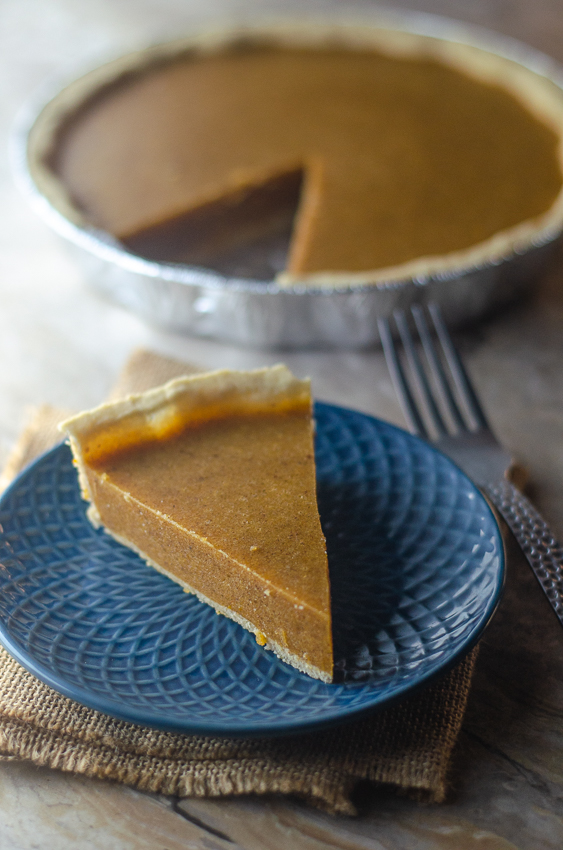This is definitely my favorite fall dessert recipe ever! A downright delectable pumpkin pie with no-bake filling! Keto, Paleo, low-carb, gluten-free, grain-free, dairy-free.