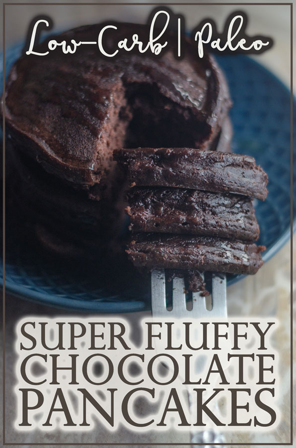 These super fluffy chocolate pancakes are the perfect weekend breakfast! Low in carbs and Paleo, they will please almost anyone!
