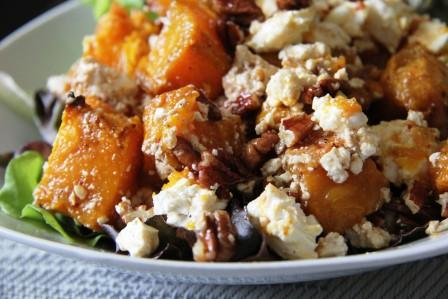 Pumpkin, Pecan and Feta Salad