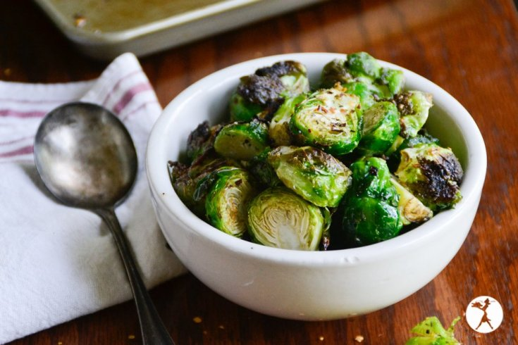 Spicy Italian Roasted Brussels Sprouts