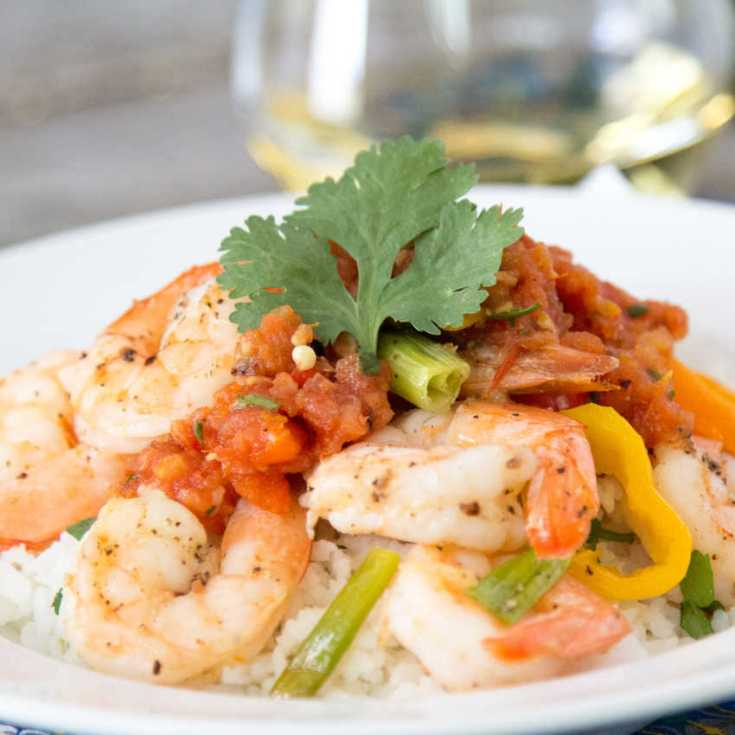 Easy Roasted Shrimp With Sweet Peppers