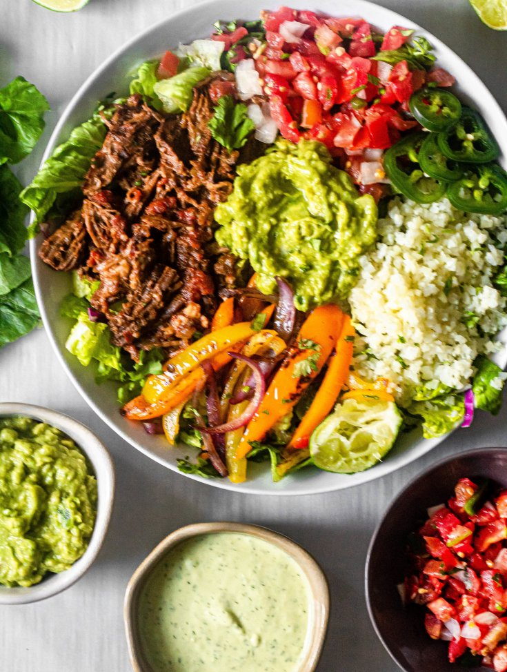 Slow Cooker Chipotle Beef Burrito Bowls