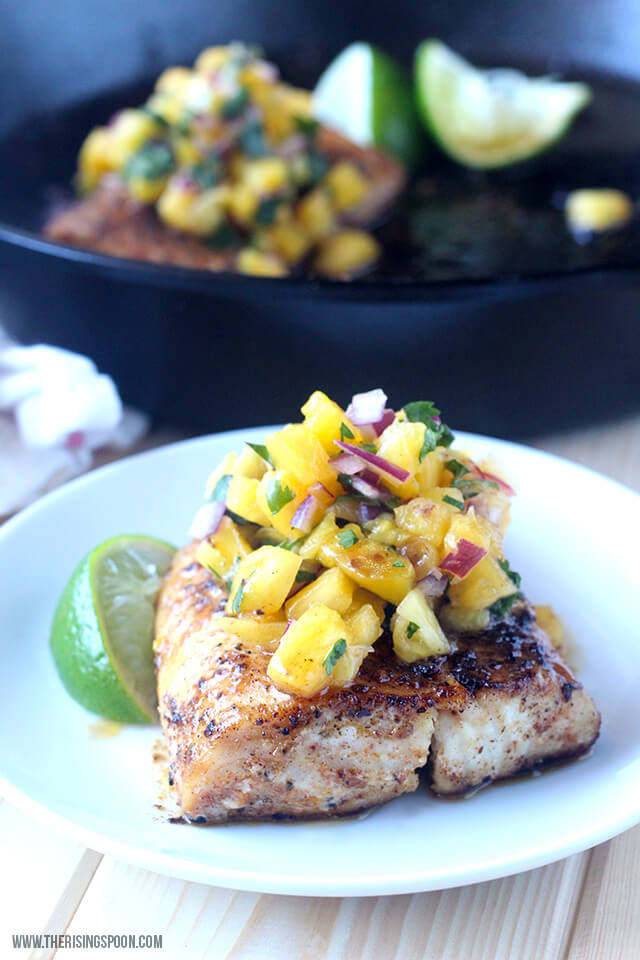 Pan-Seared Mahi-Mahi with Pineapple Salsa
