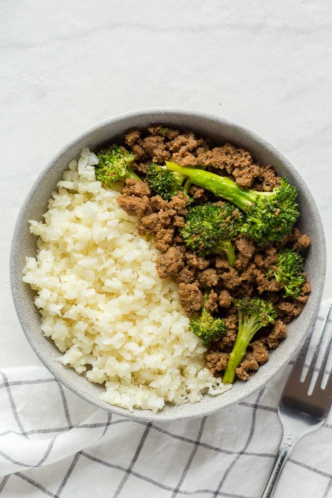 Paleo Ground Beef and Broccoli