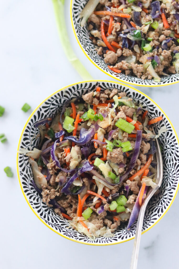 Keto Crack Slaw Recipe (Low Carb Egg Roll in a Bowl)