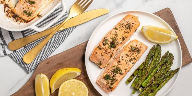 Easy Baked Salmon with Lemon-Garlic Butter