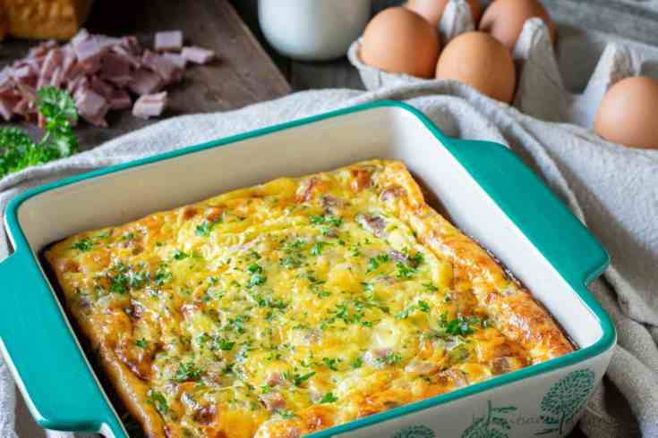 Keto Breakfast Casserole with Ham