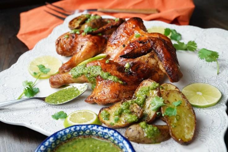 Peruvian Chicken with Aji Verde Sauce