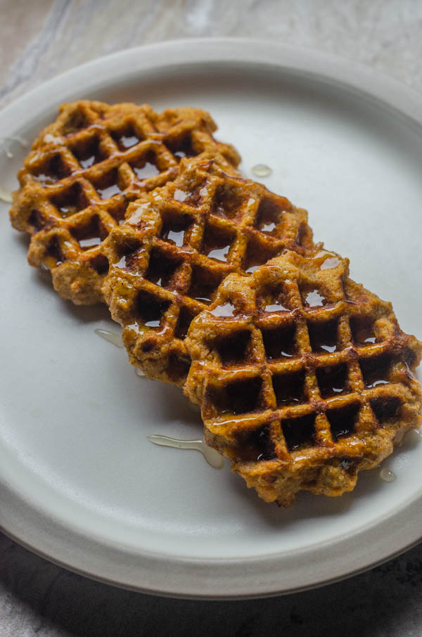 A delicious breakfast recipe, these sweet potato waffles are easy and nutritious! Paleo, gluten-free, dairy-free.
